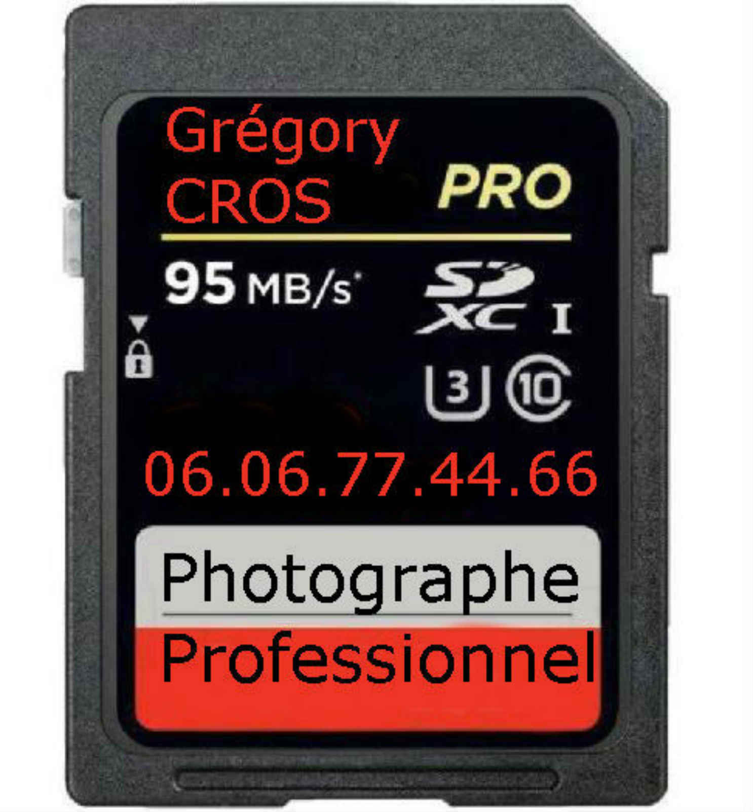 carte memoire Gregory Cros